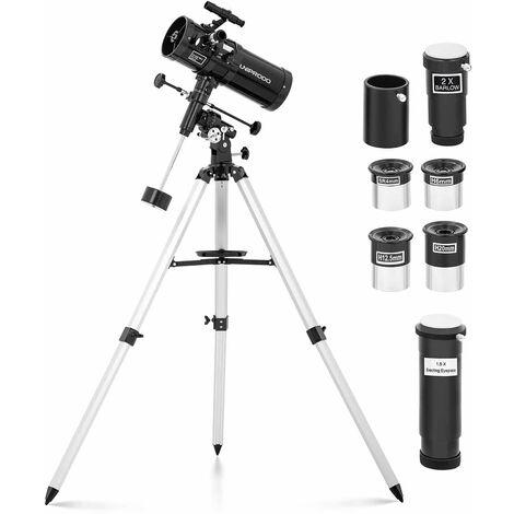 Telescopio Reflector De Espejo Astronomía Distancia Focal 1000mm Objetivo Ø114mm