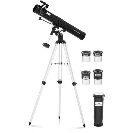 Telescopio Reflector De Espejo Astronomía Distancia Focal 900 mm Objetivo Ø 76mm