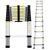 Teleskopleiter, Klappleiter, 3,2 Meter, EN 131, Maximale Belastbarkeit: 150 kg