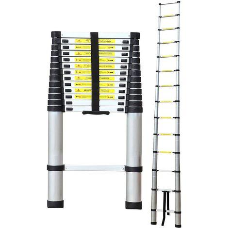 Standard//Zertifizierung: EN131-3,2 Meter Maximale Belastbarkeit: 150 kg Teleskopleiter Todeco Klappleiter