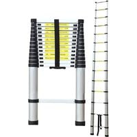 Teleskopleiter, Klappleiter, 4,1 Meter, GRATIS Tragetasche, EN 131, Maximale Belastbarkeit: 150 kg