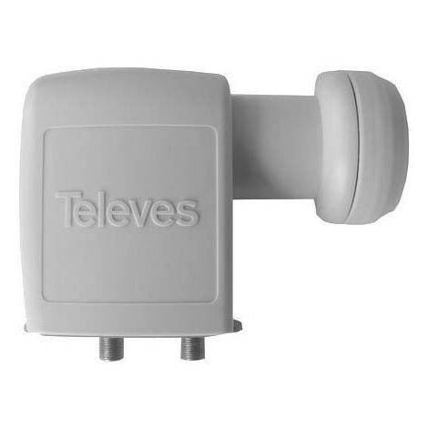 TELEVES LNB Twin Televes High Gain Universel 40mm Ultra HD 3D Gris - Gris