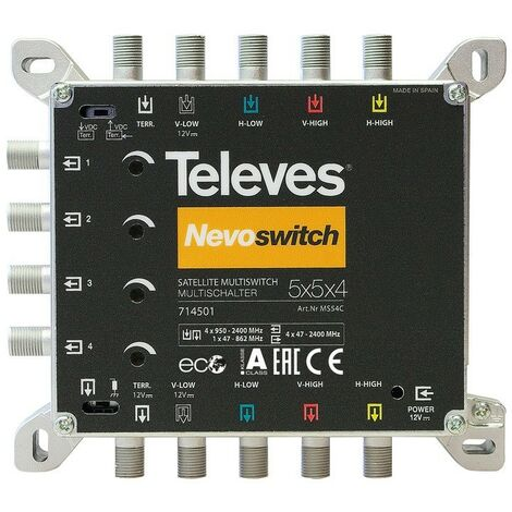 TELEVES Multiswitch 5x5x4 F Terminal/Cascadable