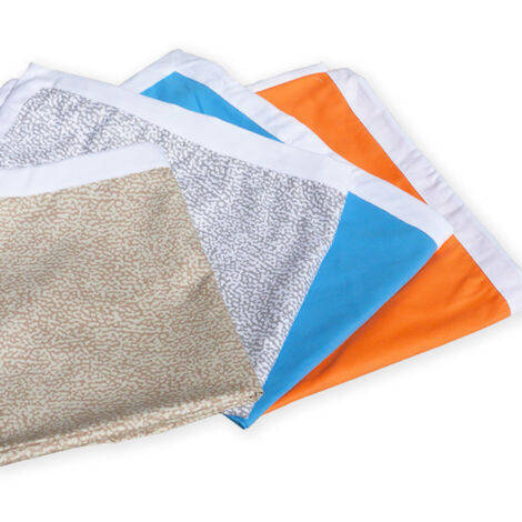 Teli mare microfibra lettino colorati tasche asciugamani spiaggia 2 pezzi