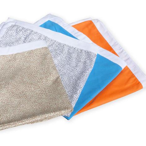 Teli mare microfibra lettino colorati tasche asciugamani spiaggia 4 pezzi