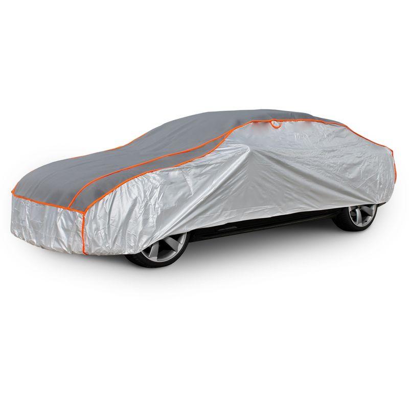 Color : Silver, Size : KA JYRD Copriauto Telo Copriauto Compatibile con Ford KA//Kuga Cover Protettiva Impermeabile Traspirante Anti-UV Abbigliamento per Auto Copertine Completa Esterni telone