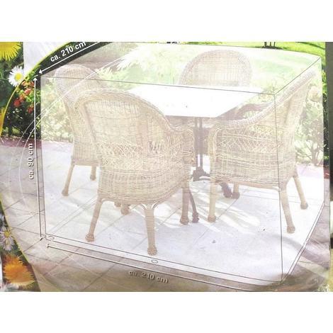 Coperture Per Tavoli Da Giardino.Telo Di Copertura Mobili Da Giardino 210 X 210 X 90 Copri Tavolo Telone Esterni