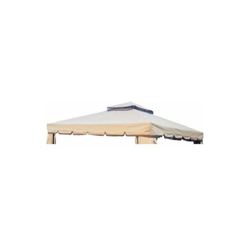 Telo di ricambio per gazebo roma metri colore ecru solo tettuccio