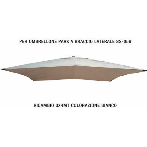 Pezzi Di Ricambio Ombrelloni.Telo Di Ricambio Per Ombrellone Mt 3x4 Colorazione Bianco