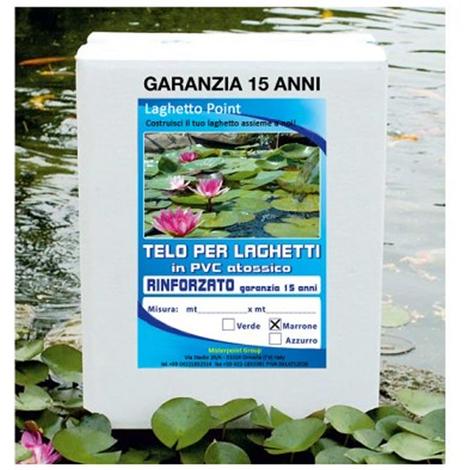 Telo per laghetto in pvc rinforzato verde for Laghetti in pvc