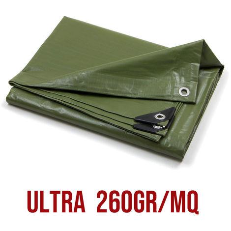 Telo Pvc Ultra Occhiellato Copertura Impermeabile Esterni Verde