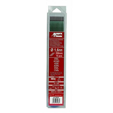 -Telwin - 15 Electrodes rutiles diamètre 1,6mm pour Acier