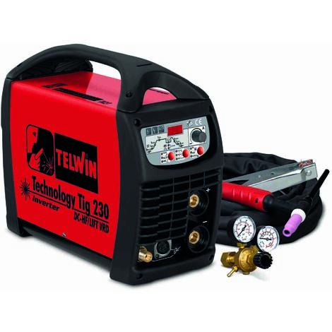 TELWIN 852055 SOLDADORA INVERTER TECHNOLOGY TIG 230 DC-HF/LIFT VRD