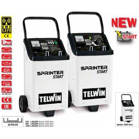Telwin - Cargador y arrancador de batería 230V monofásico 1-6.4kW - SPRINTER 3000 START