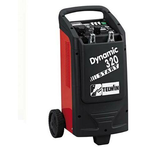Telwin - Cargador y arrancador de baterías con ruedas - Dynamic 320