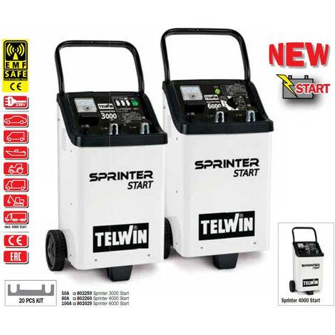 Telwin - Chargeur-démarreur de batterie 230V monophasé 1-6,4kW - SPRINTER 3000 START