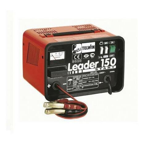Telwin - Chargeur et démarreur de batterie portable 12V (démarrage 140Ah) - Leader 150