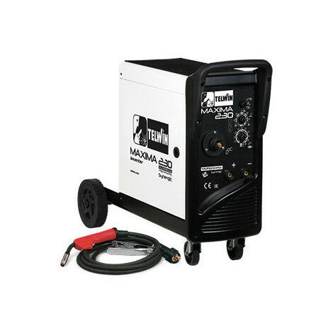 Telwin - Poste à souder inverter à fil MIG-MAG 4,8 kW 230 V 20-220 A - MAXIMA 230 SYNERGIC 230V