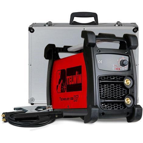 TELWIN Technology 236 XT ACX MMA und WIG Inverterschweissgerät, robuste Hülle inkl. Elektrodenhaltergarnitur, Massekabelanschlussgarnitur