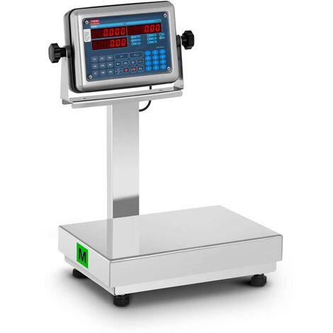 TEM Balance Plateforme Pèse-Colis Écran LED 0,4-120 kg Autonomie 40 H