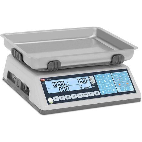 TEM Balance Poids-Prix de Marché Professionnelle Compteuse 40 g à 15 kg, ±5g
