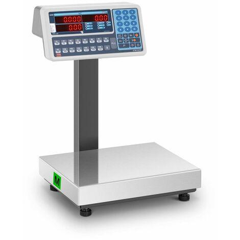 TEM Balanza para Comercio Certificable Báscula Comercial LED Dual 30 kg