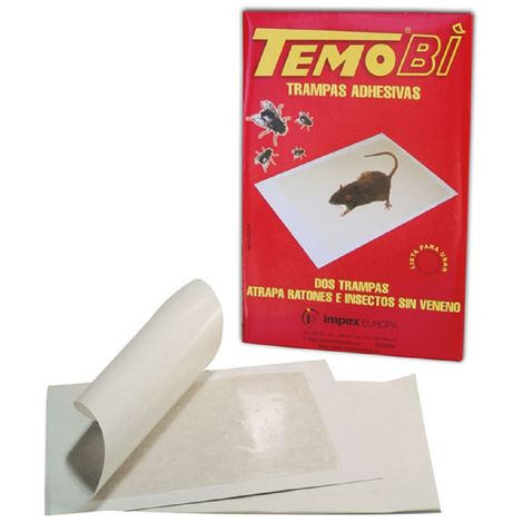 Temobi Trampa Adhesiva para Ratones e Insectos - Envase con 2 trampas