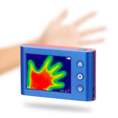 Temperatura portatil de mano termografo infrarrojo del sensor de infrarrojos de la camara digital de imagenes termico, multicolor