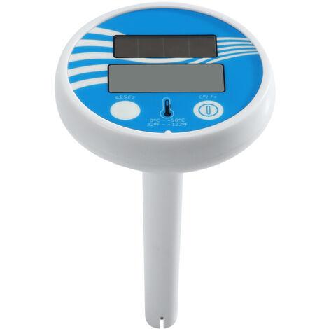 Temperatura Solar Powered piscina Termometro digital flotante libre Spa Termometro del termometro del agua caliente de la banera del estanque de peces del tanque