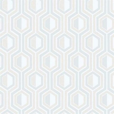 Tempo Geometric Wallpaper Galerie Paste the Wall Beige Grey