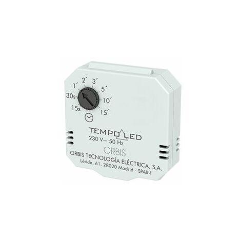 TEMPOLED Minutero, automático de Escalera para caja universal o registro lámparas LED 15s a 15 min