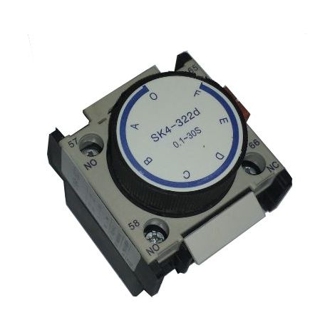 Temporizador 0,1-3 seg retardo desconexión contactor