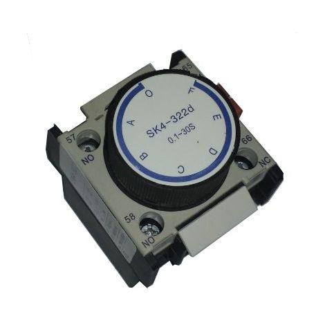Temporizador 0,1-30 seg retardo desconexión contactor