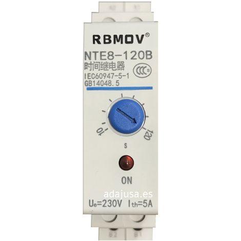 Temporizador 10-120 seg 230V a la conexión carril DIN