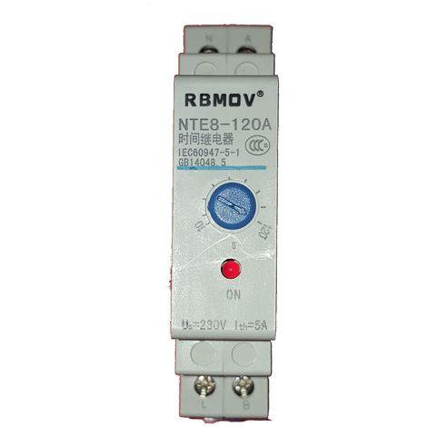 Temporizador 10-120 seg 230Vac a la desconexión carril DIN