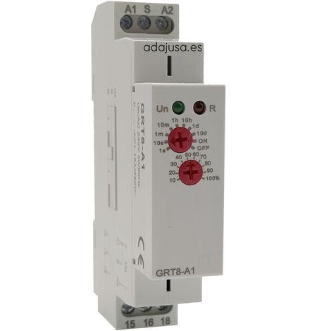 Temporizador a la conexión multirrango 230Vac carril DIN