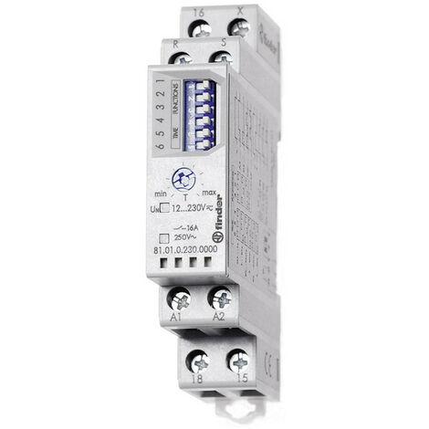 Temporizador de Finder, multifunción, modular 12-230V 810102300000
