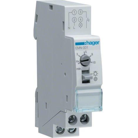 Temporizador de hager la luz de la escala es de 1 na 16A 1 módulo EMN001