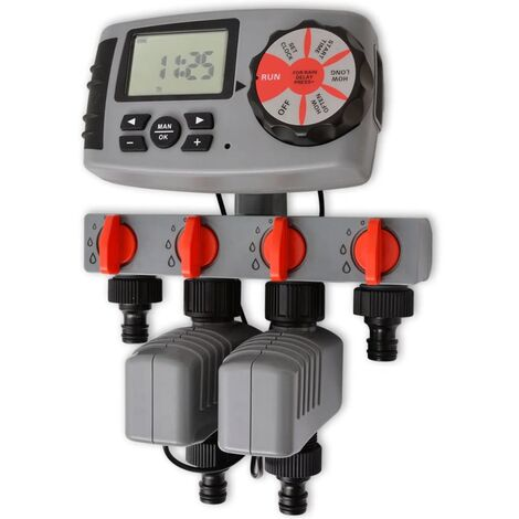 Temporizador de riego automático con 4 estaciones 3 V