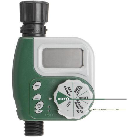 Temporizador de riego de riego del controlador con conector de grifo de agua para jardín al aire libre Sasicare