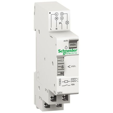 Temporizador de Schneider luz ajustable escala de 1 a 7 minutos 15363