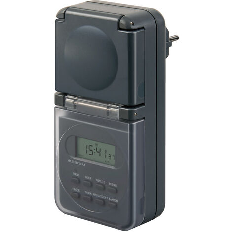 Temporizador digital semanal IP44 (Brennenstuhl 1506706)