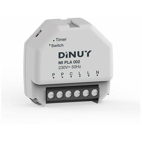 Temporizador empotrable caja registro Dinuy MI PLA 002