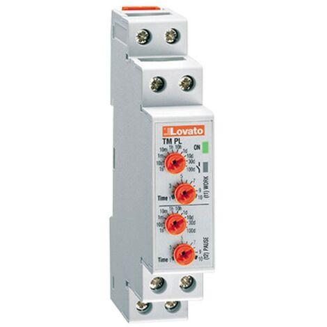Temporizador LOVATO descanso-trabajo 1 módulo 12-240VAC-DC TMPL
