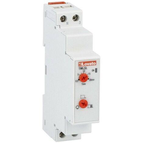 Temporizador LOVATO luz en una escala de 1 módulo de 230V TMLS