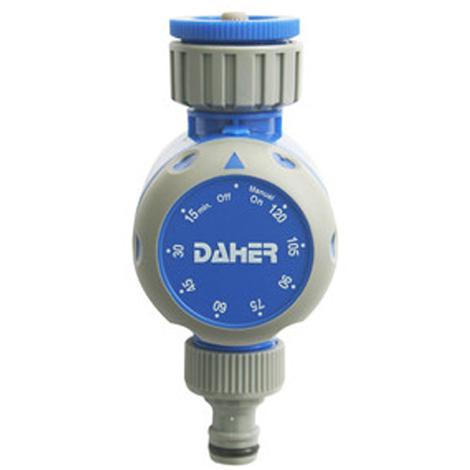 Temporizador mecánico de riego Electro DH, automático o manual, tiempo apagado de 15 a 120 minutos, 92.328