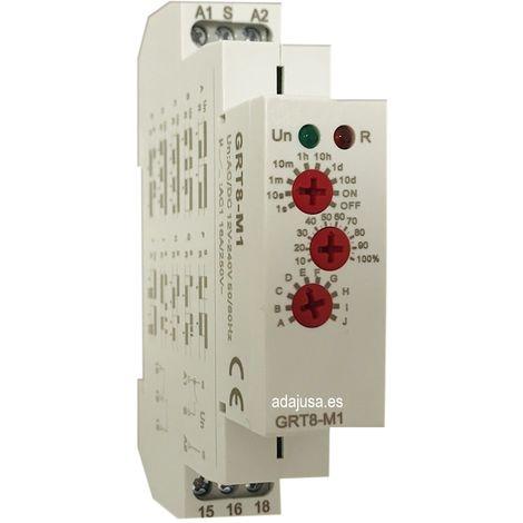 Temporizador multifunción analógico 2 contactos carril DIN