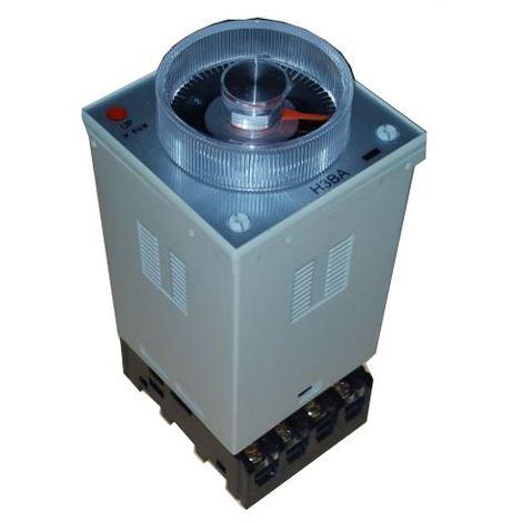 Temporizador multirrango y multimodo 48x48 enchufable 24Vac/dc