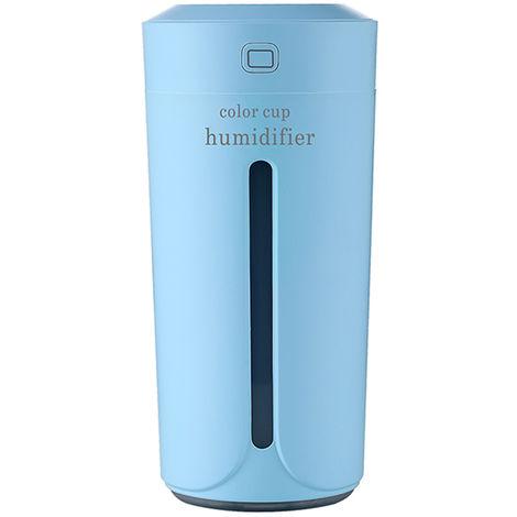 Temporizador portatil humidificador de aire difusor hidratante, luz de noche,Azul