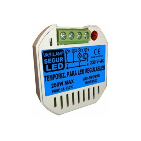 Temporizador Seguridad LED Regulable Varilamp SEGURLED250